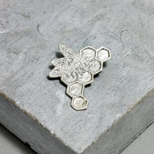 Kiki Smith Silver Bee Pin - Small