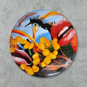Jeff Koons Lips Limited Edition Plate
