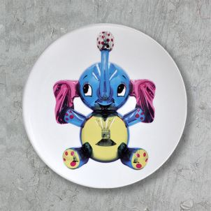 Jeff Koons Elephant Limited Edition Plate