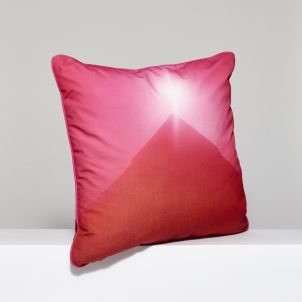 Jack Pierson Red Mountain Peak Throw Pillow