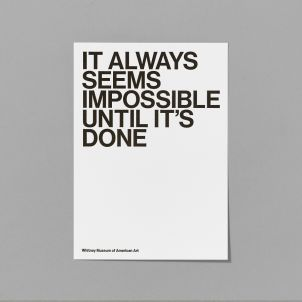 It Always Seems Impossible Until It's Done Letterpress Card
