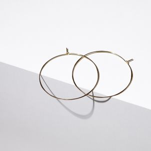 Extra Large Gold Hoop Earrings