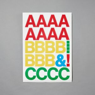 Whitney Color Letter Stickers