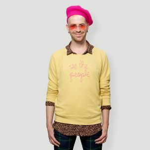Yellow L/XL We The People Lingua Franca x Whitney Museum Sweatshirt