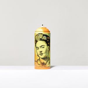 Vinyl Wrapped Frida Spray Can