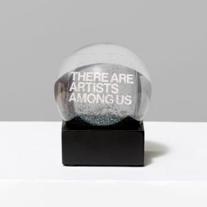 There Are Artists Among Us Glitter Globe