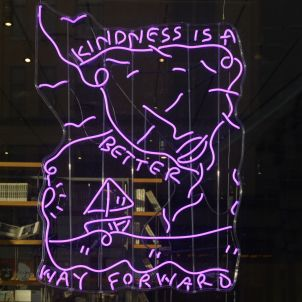 Kindness Is A Better Way Forward: A Lite Brite Neon Edition