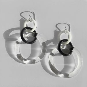 Gradual Link Hoop Earrings