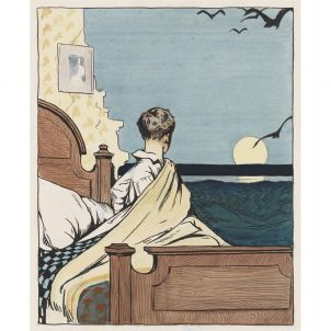 Edward Hopper, Boy and Moon, medium (26 x 22 in.) print