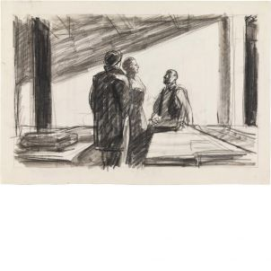 Edward Hopper, Study for Conference at Night, medium (19 x 26 in.) print