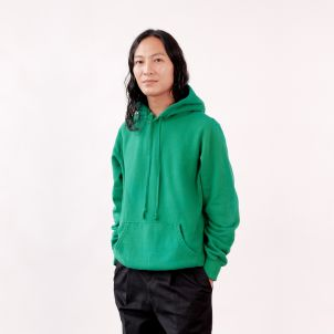Large Green Hue Hand-Dyed and Unique Noah Hoodie
