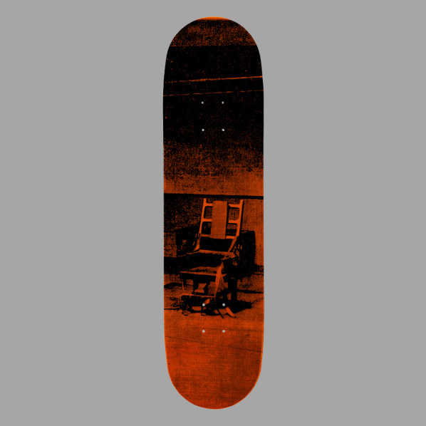 Andy Warhol Electric Chairs Skate Deck