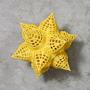 Frank Stella Star Ornament, Yellow