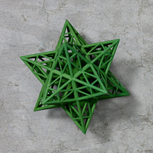 Frank Stella Star Ornament, Green