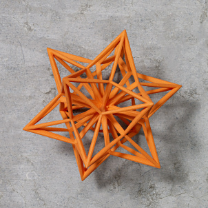 Frank Stella Star Ornament, Orange