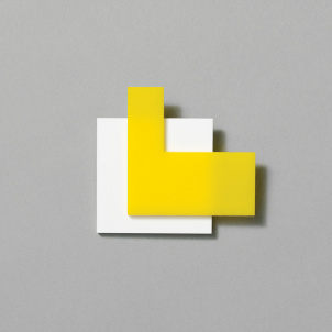 Yellow on White Pin by Chus Burés
