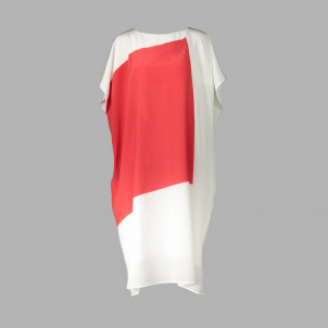 Red and White Silk Dress from Narciso Rodriguez