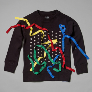 Kid's Snap Sweatshirt- Black