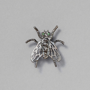 Raul de Nieves Two Stone Fly Pin