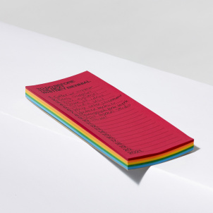 Whitney Biennial 2021 To Do Notepad