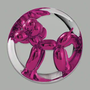Jeff Koons Balloon Dog Plate - Magenta