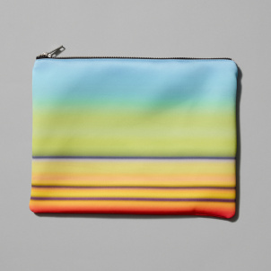 Railroad Sunset Neoprene Clutch
