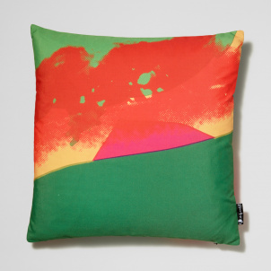 Andy Warhol Marilyn in Green and Red Pillow