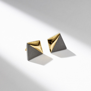 Gold Dipped Geometric Earrings