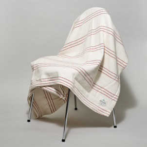 Modern Ticking Blanket from Amana Woolen Mills