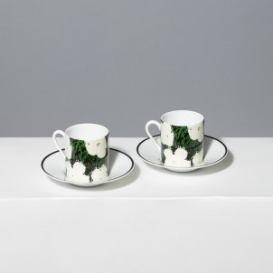 Andy Warhol White Flowers Porcelain Espresso Set