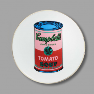 Andy Warhol Tomato Soup Can Porcelain Dessert Plate