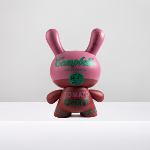 """Andy Warhol x Kidrobot Campbell's Soup Can 8"""" Dunny"""
