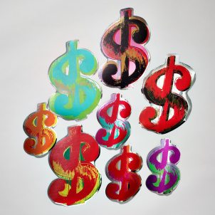 Andy Warhol Cash Money Wall Decals