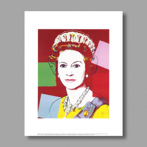 Reigning Queens: Queen Elizabeth II of the United Kingdom by Andy Warhol print