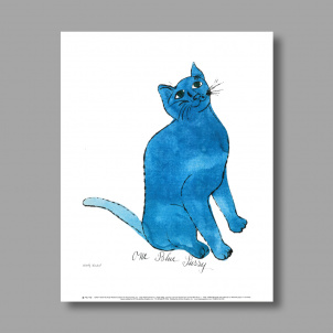 One Blue Pussy by Andy Warhol print