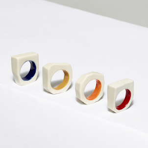 Color Glaze Porcelain Ring