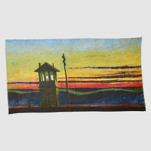 Edward Hopper Railroad Sunset Scarf