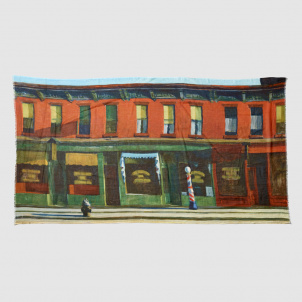 Edward Hopper Early Sunday Morning Scarf