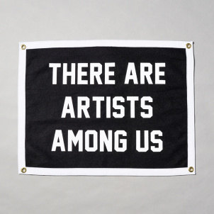 There Are Artists Among Us Camp Flag