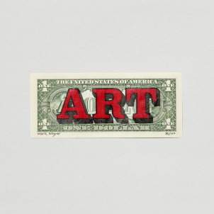 "Unframed ""American Art"" Dollar Bill by Mark Wagner"