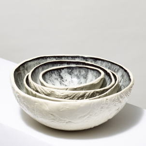 Andrea Zittel Marble Glazed Ceramic Bowl- Large