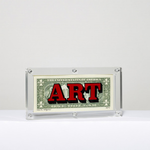 """American Art"" Dollar Bill by Mark Wagner"