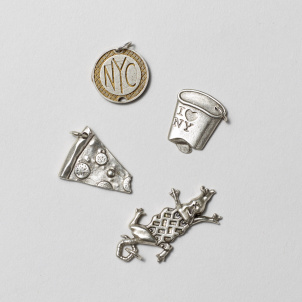 New York City Flat Charms