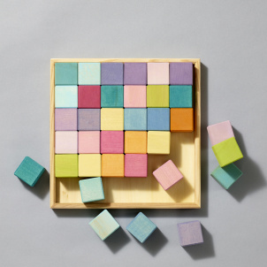 Pastel Mosaic Wooden Blocks