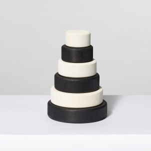Monochrome Wooden Stacking Tower