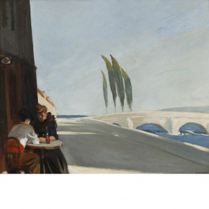Edward Hopper, Le Bistro or The Wine Shop, medium (22.3 x 26 in.) print