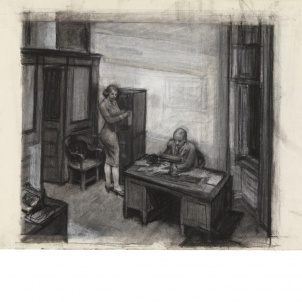 Edward Hopper, Study for Office at Night, medium (21.8 x 26 in.) print