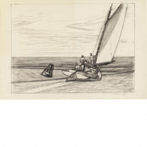 Edward Hopper, Study for Ground Swell, medium (18.9 x 26 in.) print