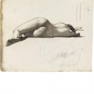 Edward Hopper, Reclining Female Nude, Rear View, medium (20.9 x 26 in.) print