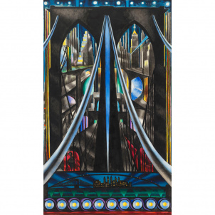 Joseph Stella, Brooklyn Bridge, medium (26 x 17 in.) print